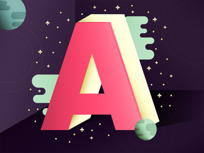 36 Days of Type: A a illustration typography type 36daysoftype