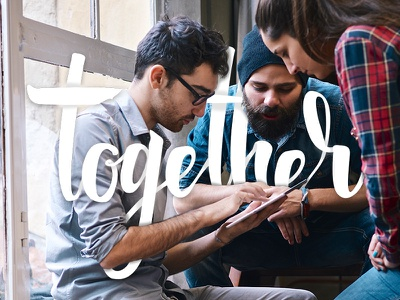 Together Lettering team quotes identity branding typography calligraphy brush lettering