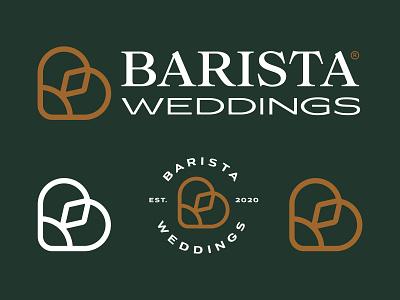 Barista Weddings heart ring b weddings logo designer logotype designer logotypes logodesign brand branding graphic icon mark logotype symbol logo design