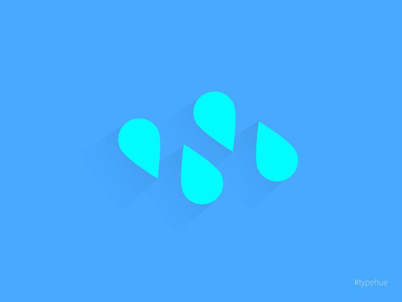 Typehue N icon letter n mark logo design typehue