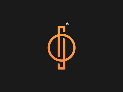 O S symbol icon logo design monogram machining