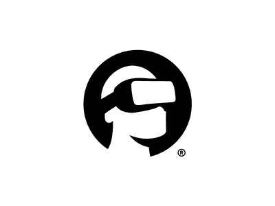 EvolVR Logo branding symbol head icon design logo virtual reality vr