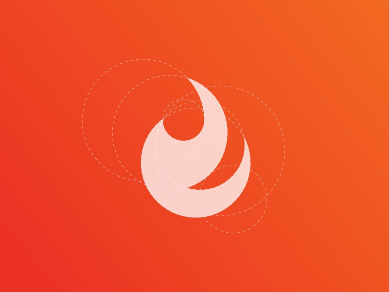 Fireball (Sold) ratio grid logo fire flame symbol icon fireball