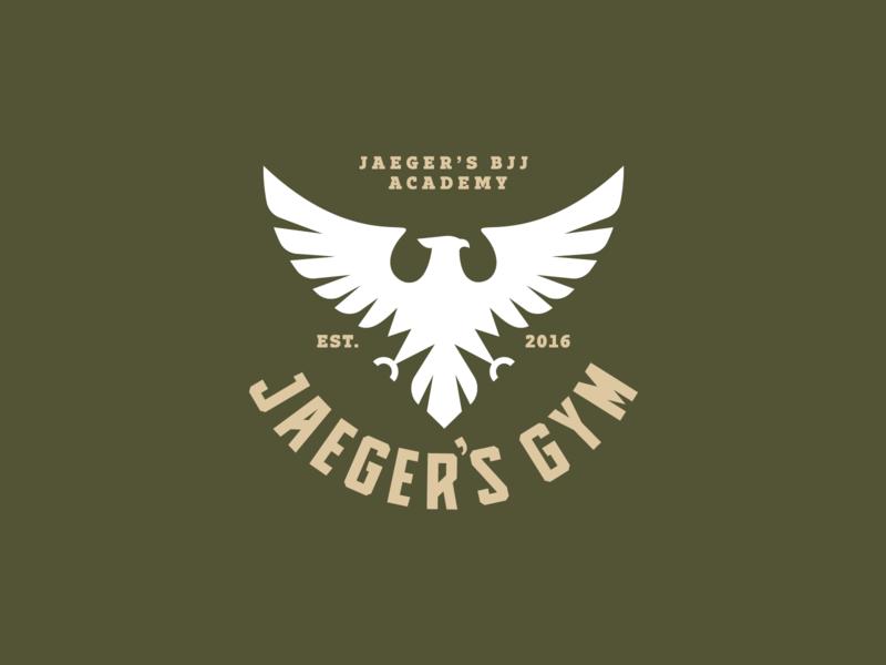 Jaeger's Gym green eagle symbol eagle icon eagle logo icon symbol jaeger hunt militar logo eagle