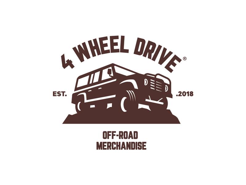 4WHEELDRIVE icon symbol off-road logo car logo truck logo truck wheel off-road
