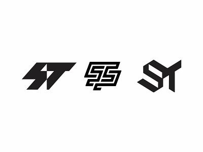 S+T Logo icon branding brand st logo t logo s logo stairs thunder bolt line monogram symbol logo design