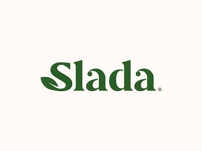 Slada Final typography logo typography salad logo serif design branding brand logotype logo