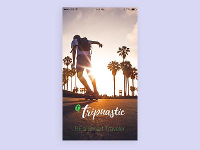 Tripnastic Splash APP branding typography logo illustration app ui design