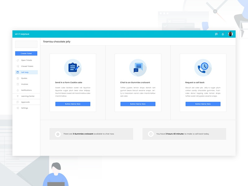 Redesign Portal Pages design ui ux chat back call illustration list table form