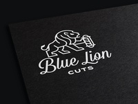 Blue Lion Cuts Logo