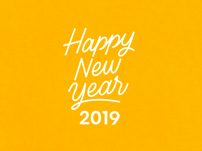 Happy New Year! typography lettering design illustration animation