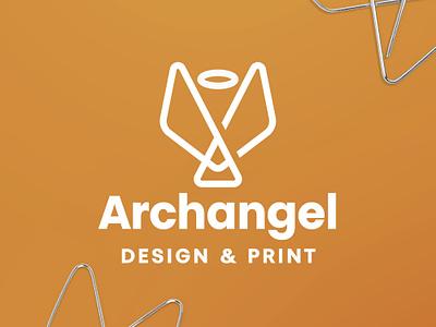 Archangel Logo print business card design branding logo