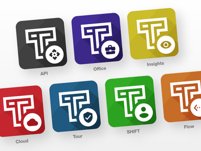 TrackTik App Logos icons app products tracktik logo