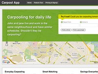 Carpool App Homepage
