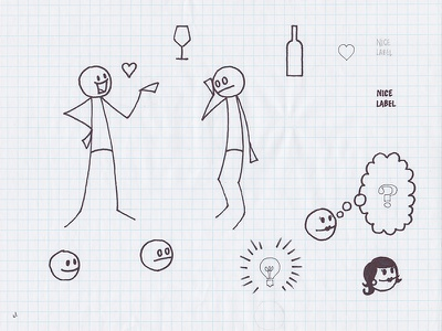 SocialGrapes Video Tour Assets video socialgrapes wine assets tour sketch illustration
