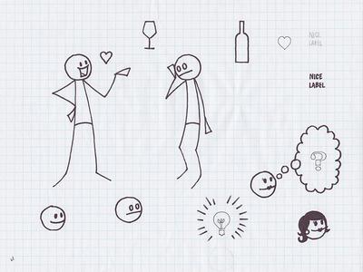 SocialGrapes Video Tour Assets video socialgrapes wine assets tour sketch illustration
