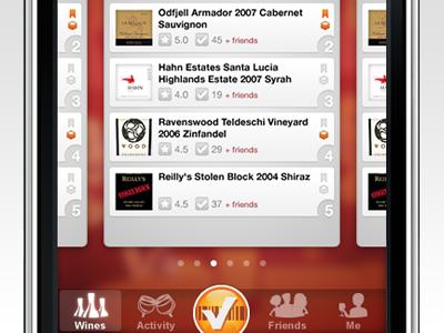 SocialGrapes Render Tab Bar socialgrapes wine ios app render tabbar navigation checkin scan