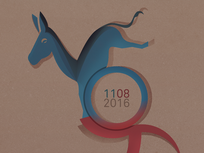 Vote Poster Design half tone shading texture illustration