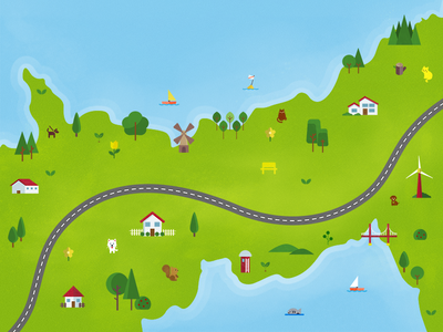 Road Map texture illustration road map