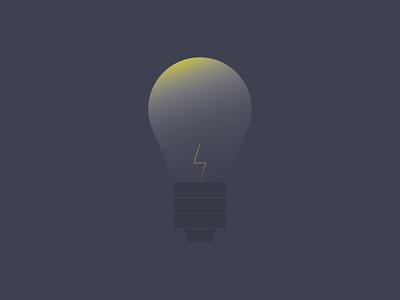Lightbulb shadow light illustation