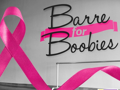 Barre For Boobies breast cancer awareness fundraiser