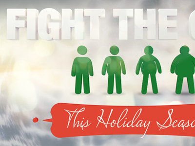 Fight The Gain  3d text c4d photoshop composite email hero holidays christmas