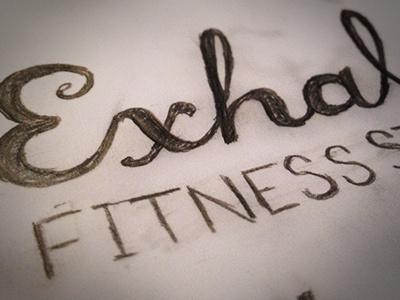 Dribbble Exhale WIP hand lettered work in progress logo