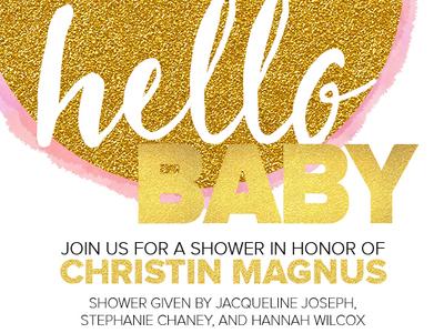 Baby 2 shower invite baby gold invite