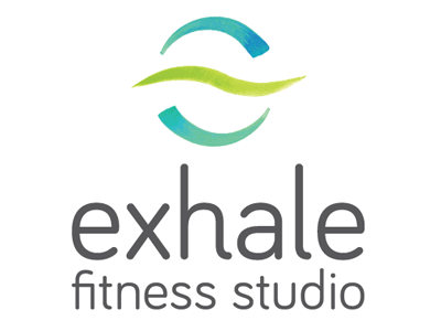 Exhale Logo Type water color logo branding fitness
