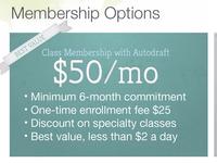 Shot Membership Options