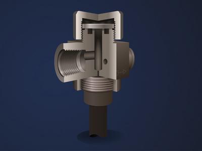 Thermo Steam Trap technical illustration