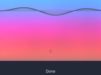 Audio recording in progress ux audio