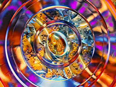 Convergence glass droplet colorful experiment 3d abstract blender