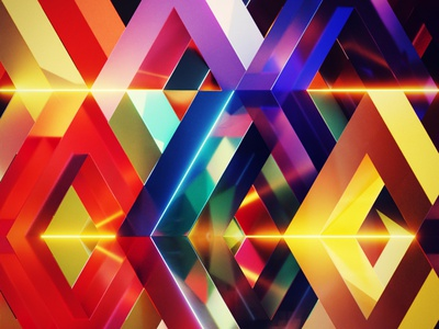 Hollow Diamonds colorful 3d abstract blender
