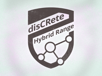 disCRete Hybrid Range Logo design texture icon security network logo branding