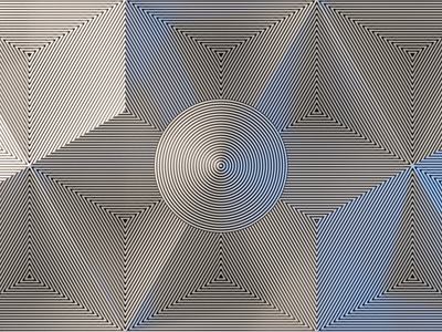 Misaligned Lines abstract blender optical illusion design