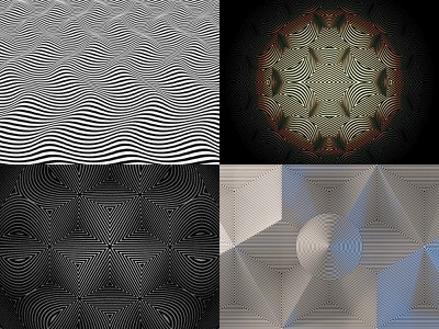 Top 4 of 2018 black and white lines abstract blender optical illusion
