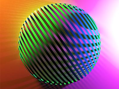 Ribbon Sphere abstract blender sphere 3d