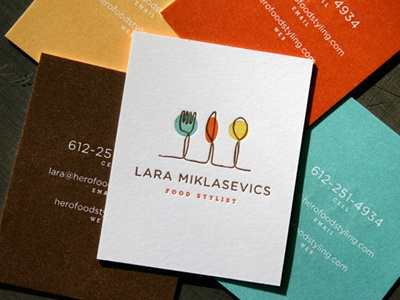 business cards designed for lara miklasevics food stylist here in minnesota - Stylist Business Cards