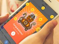 Gaining levels in messenger app