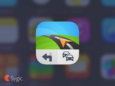 New Sygic icon vector car navigation app icon icon sygic