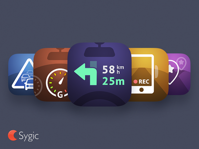Sygic icons (in-app) app icon icon vector android ios in-app navigation app sygic