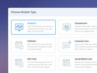Select Module - Web App Product UI Design