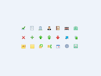 50 mini (16x16) icons for desktop application (year 2009)