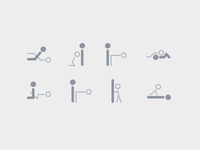 Sex positions icons set