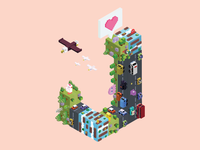 Crossy Road Isometric City