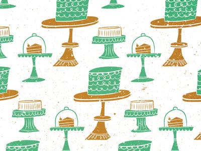 Let Them Eat Cake! Pattern cake pattern vintage illustration