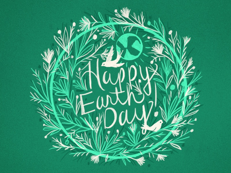 Happy Earth Day! earth day happy earthday green world flowers nature branches birds