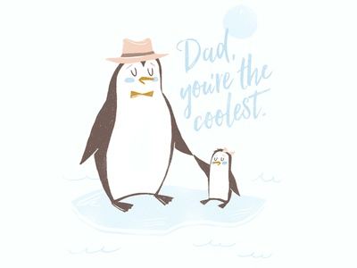 Coolest Dad Ever iceberg penguin fathers day dad father