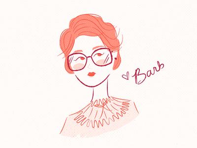 Love, Barb feminine glasses short hair illustration female person stranger things barb